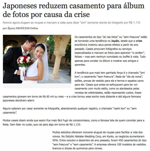 Apesar da crise, japoneses continuam fazendo álbuns de casamento