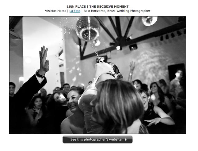 La Foto bombou no último concurso mundial de fotografia de casamento!