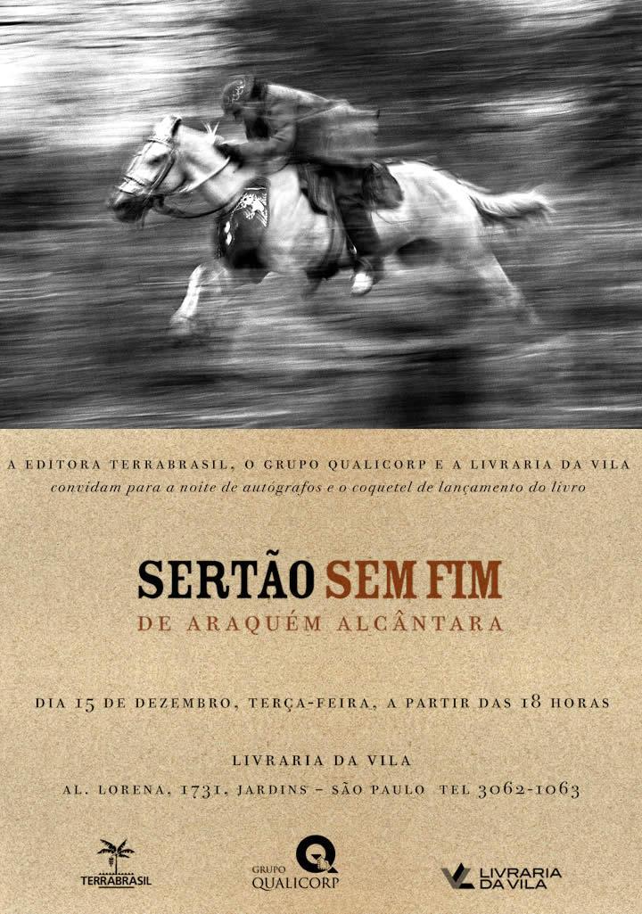 Convite lançamento: Sertão sem fim de Araquém Alcântara