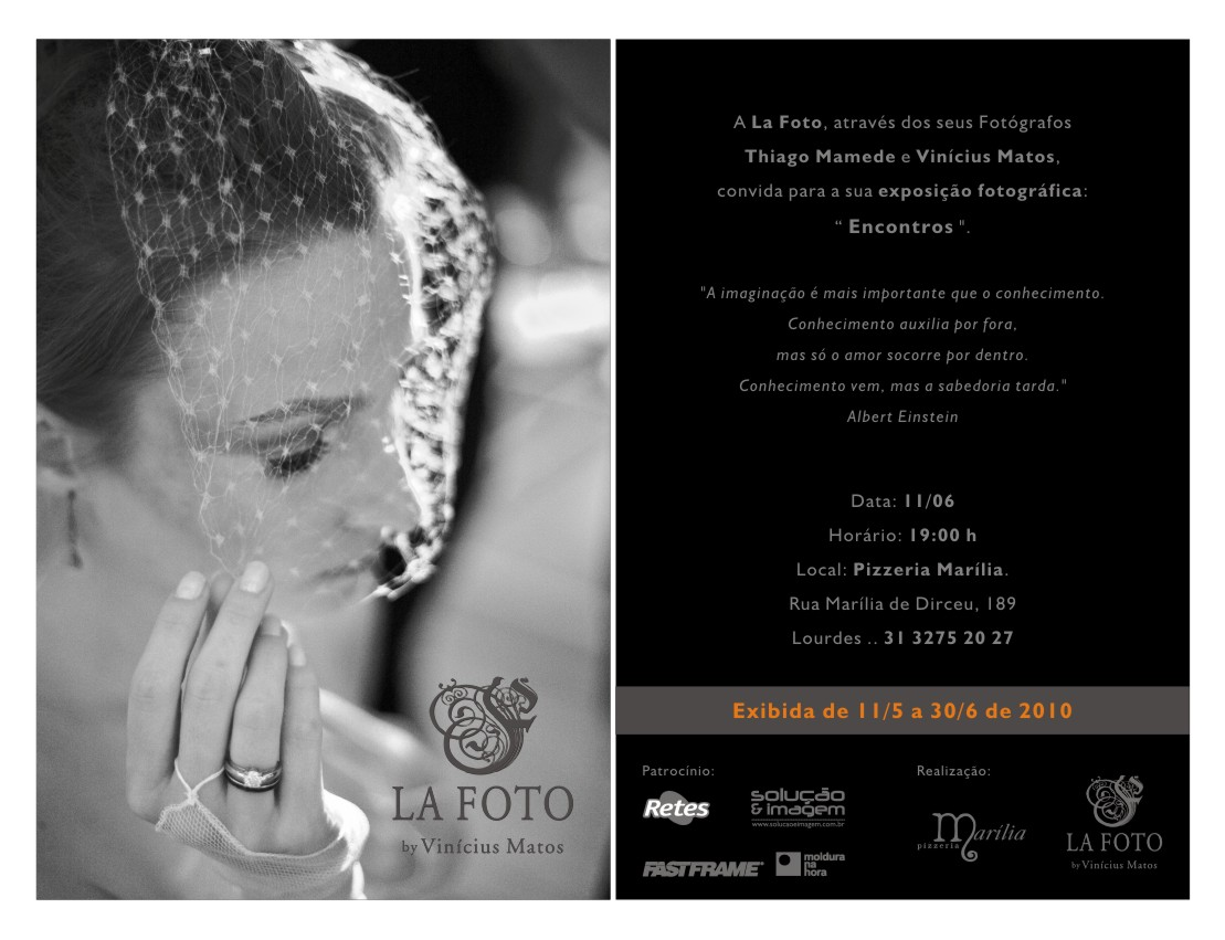 Exposição da La Foto: dia 11 de maio em Belo Horizonte
