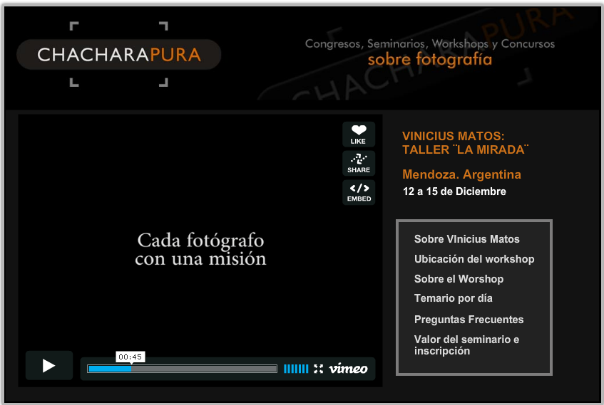 Faltam 13 dias - Workshop do Olhar VI - Mendoza