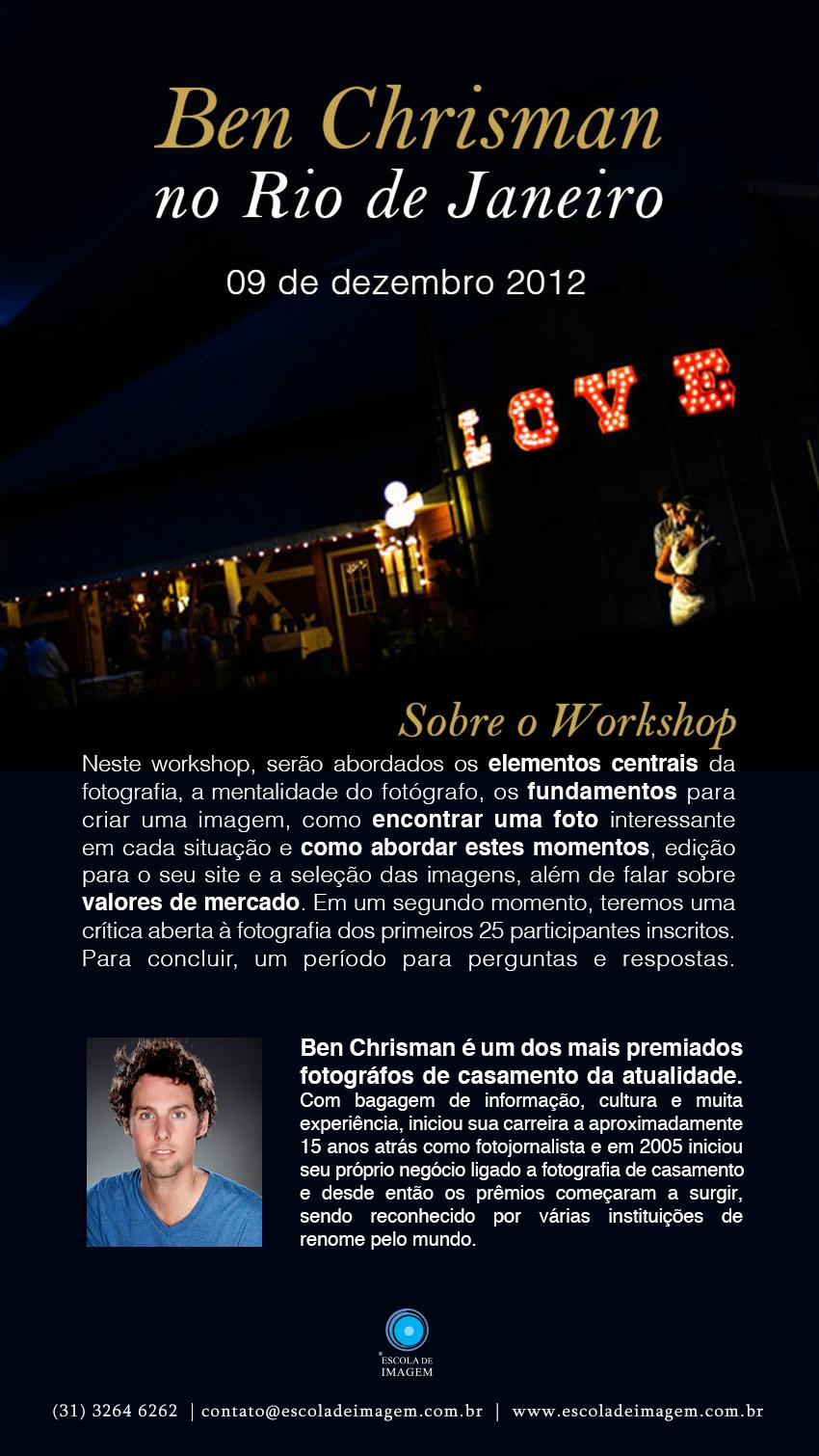 Talentoso es poco: Ben Chrisman en workshop único en Rio de Janeiro
