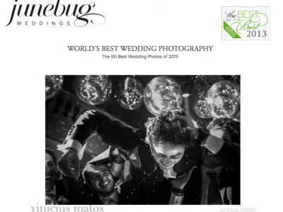 Fomos escolhidos de novo -The best of the best 2013 by Junebug Weddings