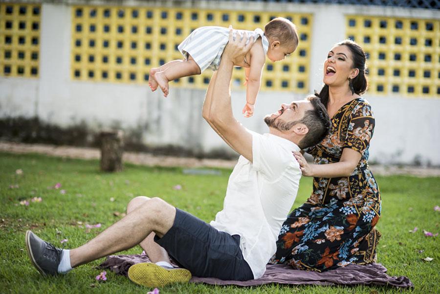 Flávia, Tiago e Francisco - Ensaio de Família