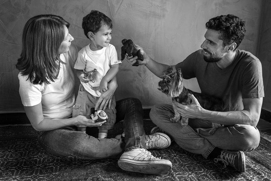 Tudo vai dar certo no final - Ensaio de Família - Ju, Bruno, Theo e Gigi